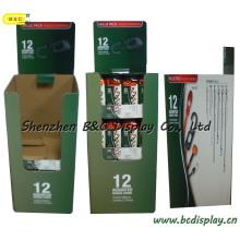 Qp, poubelle en carton, affichage de palette, affichage de poubelle, affichage ondulé, support de papier, affichage de plancher de carton, présentoir de bruit (B & C-A050)