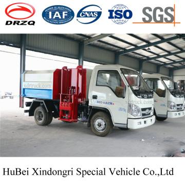 4cbm Foton Automated Side Loading Hydraulic Euro 4 Barrel Hanging Garbage Truck