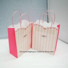 Bekleidungspapier Verpackungstasche mit Seilgriff