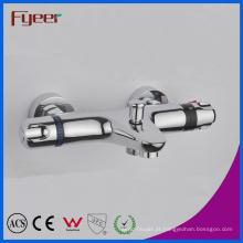 Fyeer alta qualidade in-Wall banho chuveiro torneira termostática com desviador