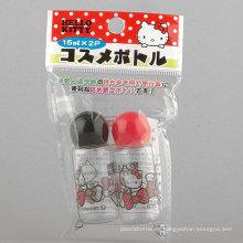 2PCS 15ml hola gatito en forma de seta botella / botella de viaje conjunto