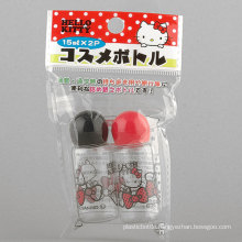 2PCS 15ml Hello Kitty Mushroom-Shaped Bottle/Travel Bottle Set