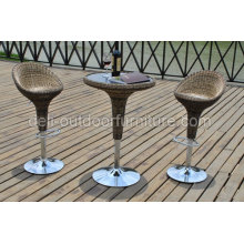 Mobilier de plein air jeu de Bar chaise haute et Table haute