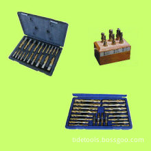 End Mill Sets HSS with Wooden Case