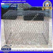 Niedriger Preis Black Iron Wire Sechskant Gabion Box mit (CE und SGS)