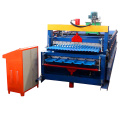 Full Automatic Gold Supplier Hot Sale Double Layer Panel Trapezoidal Corrugated IBR Step Tile Sheet Roll Forming Machine
