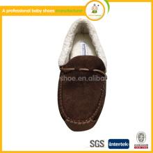 2015 venta caliente al por mayor marrón lether bebé zapatos de invierno