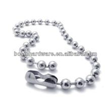 Moda de alta qualidade de metal aço inoxidável bola cadeia colar