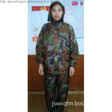 Camouflage raincoat