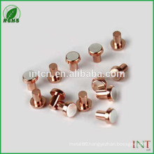on sale flat snap head solid copper rivets