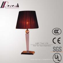 Lampe de table de chevet décorative en soie rouge décorative