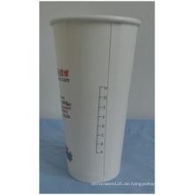 10oz Doppel-PET-Einweg-Papierbecher, gedruckte Skala