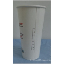10oz Double PE Disposable Paper Cups, Printed Scale