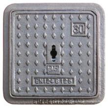 En124 B125 couverture carrée de trou d'homme en fonte ductile