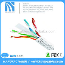 BLANCO BLANCO 1000FT CAT6 Cable UTP sólido 550Mhz 24AWG CABLE DE CABLE 6 CABLE CONFORTABLE TAA