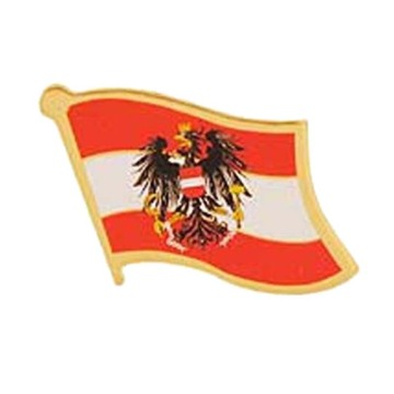 Austria Bendera Pin Badge Pin dengan Butterfly Clasp