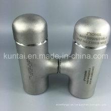 Camiseta ANSI B16.9 de acero inoxidable 304 316L con calidad superior (KT0350)