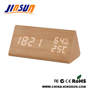Humidity And Temperature Function Clock With Led Display