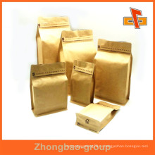Гуанчжоу OEM пользовательских ламинированных печатных стоять стороны ластовицей блок нижней бумажный мешок для продуктов питания