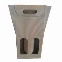 Paper Bag Wine Bag with Die-Cut Paper Handle
