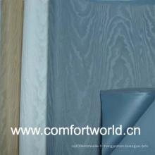 Tissu jacquard en rideau avec revêtement PVC