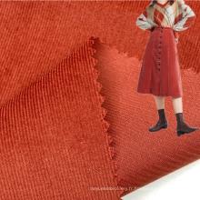 Couleur personnalisée lumineuse 145GSM 100% coton tissé 21 pays de galles en velours côtelé pour robes de filles