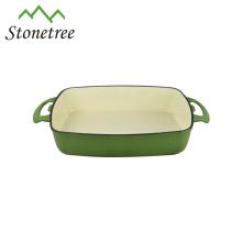 Venta al por mayor barato asar pan de molde de hierro fundido Rectangular