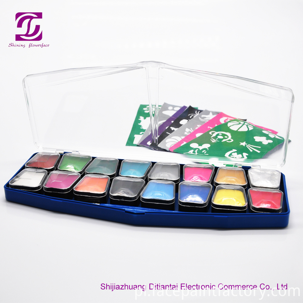 16 colors face paint