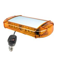 "24W High Power 13,2 ""bernsteinfarbenes Röhrenblitz blinkende Notfallpolizei Warnung Dach 12V DC Krankenwagen Auto LED Mini Lightbar"