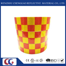 Cinta reflectante de visibilidad de diseño de rejilla roja / amarilla (C3500-G)