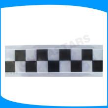 Fita checkered preto do PVC, quadrado verde imprimiu a fita do pvc, rotulação reflexiva do vinil para o uniforme da visibilidade elevada