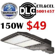 ETL DLC enumeró 5 años de garantía de alto effiency 130lm / w luz de calle llevada de la caja de zapatos 60w100w 150w 200w 250w 300w