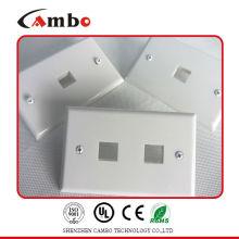 Хорошая цена бесплатно образец 1/2/4 порта настенной панели cat 6 ethernet настенная розетка