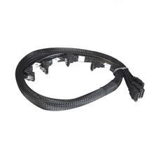 Câble SATA multicolore 4X 7pin avec loquet