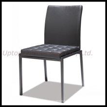 Черный Безрукий Обедая кожаный стул ресторана (СП-LC272)