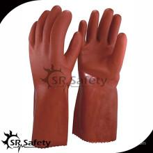 SRSAFETY Orange pvc gloves