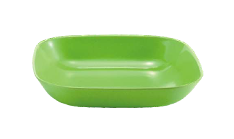 Biodegradable square dinnerware bamboo bowl