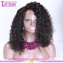 100% Бразильского Виргинские Волос Афро Кудрявый Вьющиеся Полный Парик Шнурка Естественный Дешевые Натуральные Вьющиеся Волосы Парики