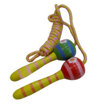 Clássico brinquedo promoção madeira pular corda pular