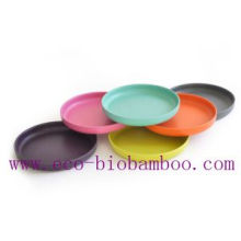 (BC-P2023) Colorful Bamboo Fiber Tableware Plate