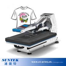 Máquina de transferencia de calor hidráulica de alta presión manual de la camiseta