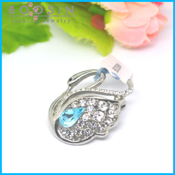 Elegant Crystal Swan Metal Brooch Wholesale #51179