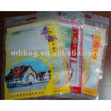 Embalagem plástica do alimento do arroz do selo colorido do calor