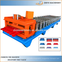 Glaze Tile Roll Forming Machine With Auto Stacker