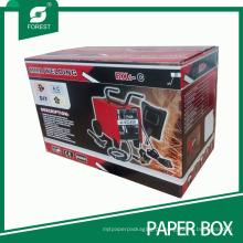 Caixa de papel ondulada do uso industrial da cor com logotipo feito sob encomenda