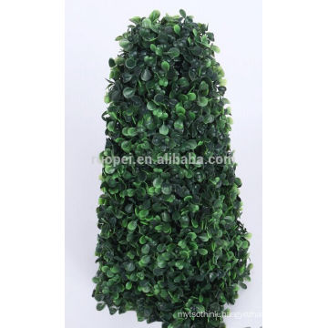2015 China suppiler green artificial topiary boxwood grass tower tree