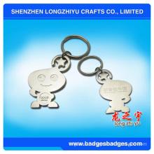 Cute Cartoon Silver Plating Keychain Lego Metal Keychain