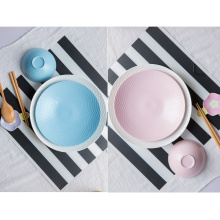 Color Dinner Plate Ceramic Dinnerware Plate and Dish Solid Color Plate for Restaurant and Hotel