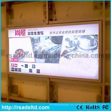Caja de luz impermeable de la materia textil de la tela del LED del aluminio