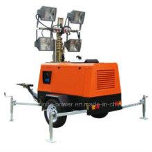Generador De Torre De Luz De Construcción Diesel Móvil